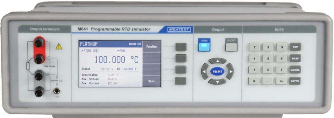 M641 programmable RTD simulator