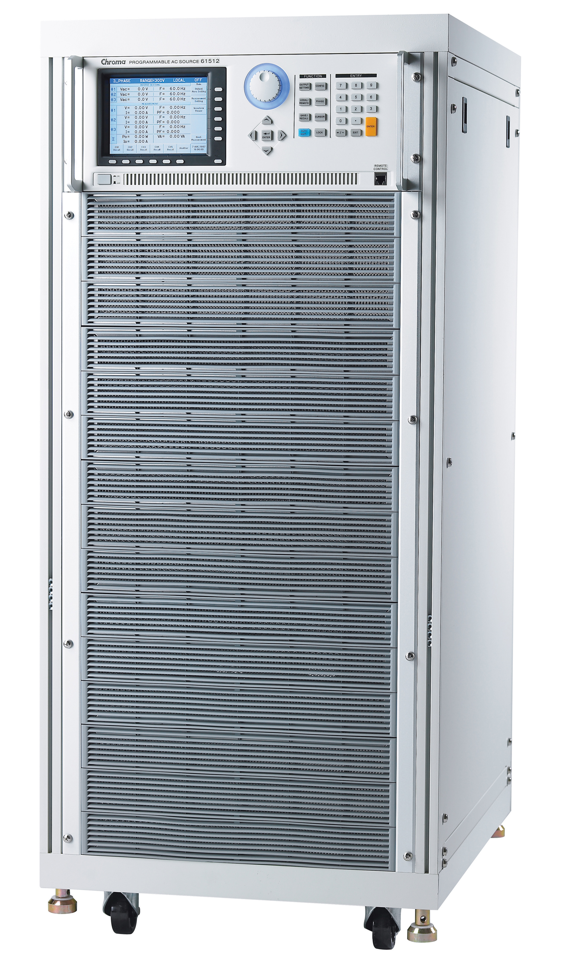 Chroma 61500 Series three-phase AC power supplies