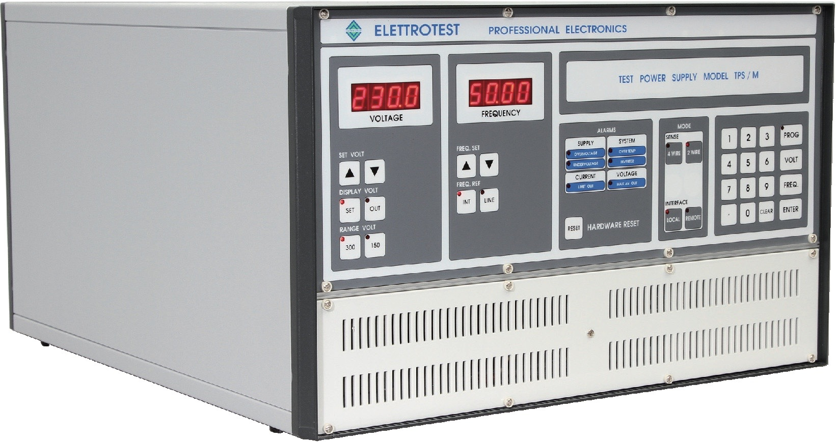 Elettrotest TPS Series single-phase AC power supplies