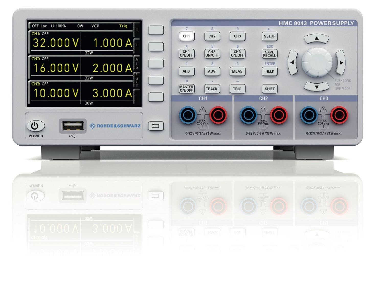 R&S HMC804X series programmable DC power supplies