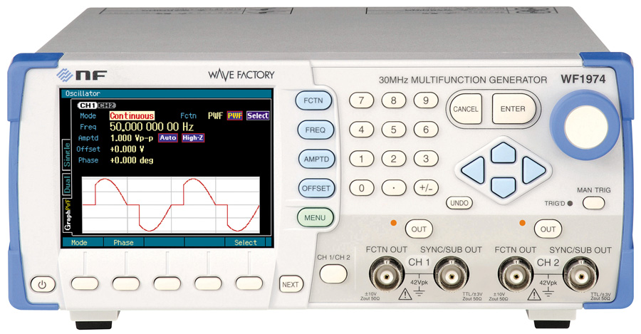 NF WF1973 and WF1974 function generators