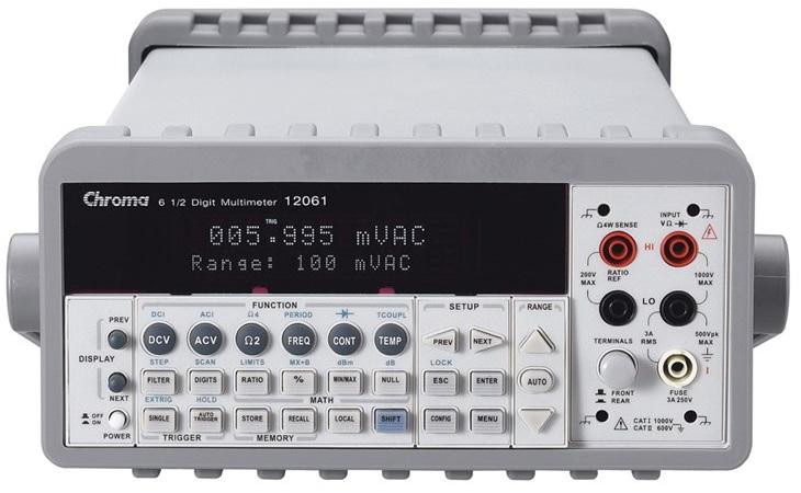 The Chroma 12061 Digital Bench Multimeter