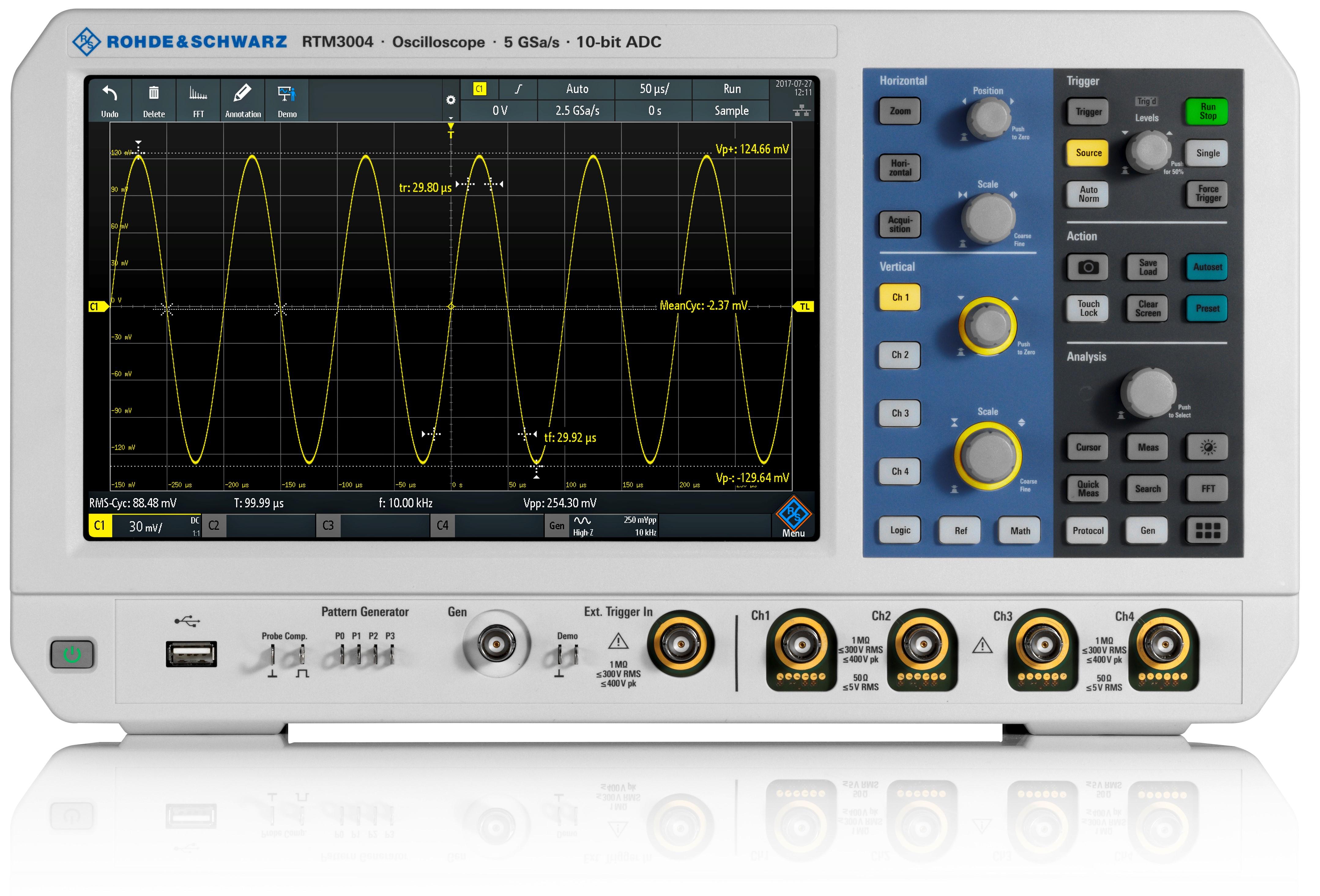 R&S RTM3000 series digital Oscilloscope