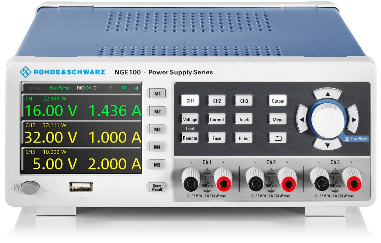 NGE100 series DC power supplies from R&S
