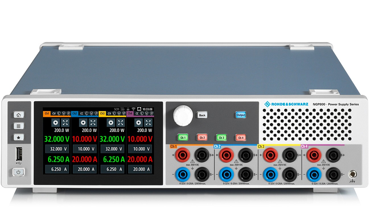 R&S NGP800 series 2 and 4 channel DC power supplies