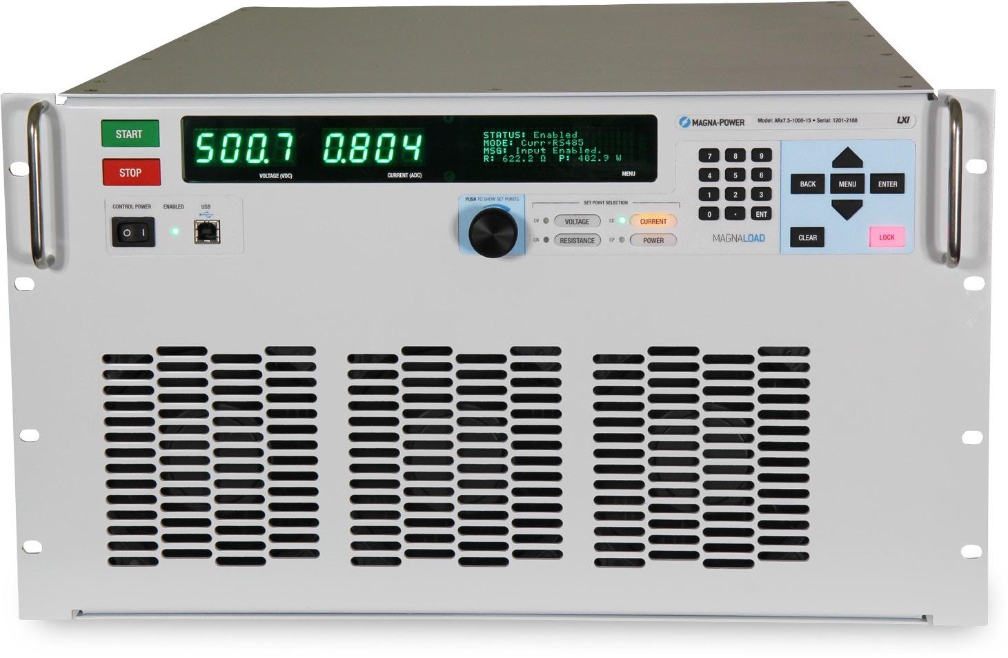 Magna-Power MagnaLOAD ARx series DC loads 6.75 kW - 40.5 kW+