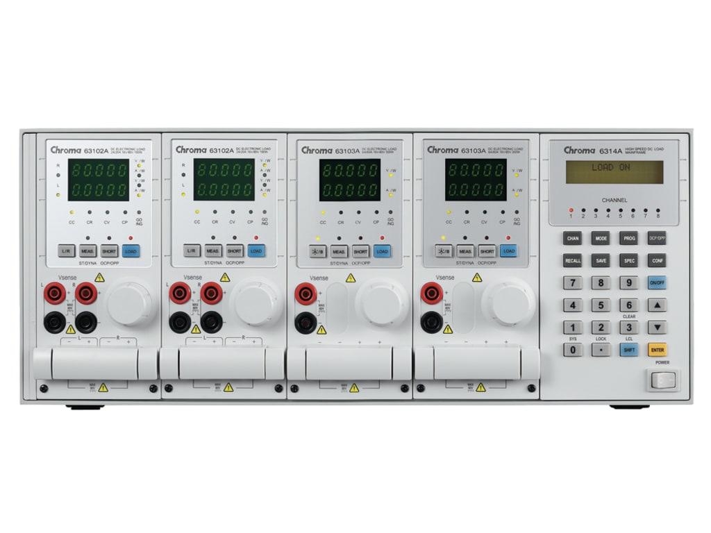 The Chroma 6310A series DC loads 200W - 1200 W