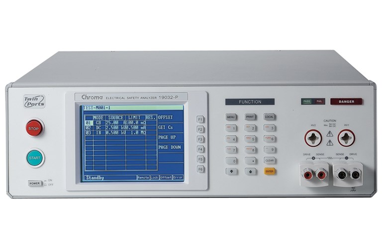 The 19032P Electrical Safety Analyzer from Chroma